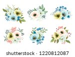collection of floral decors... | Shutterstock .eps vector #1220812087