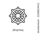 dharma icon. trendy modern flat ... | Shutterstock .eps vector #1220815411