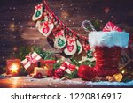 christmas background. advent... | Shutterstock . vector #1220816917