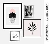 a set of four framed art prints ... | Shutterstock .eps vector #1220821054