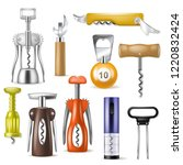 corkscrew vector bottle screw... | Shutterstock .eps vector #1220832424