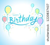 cute happy birthday card... | Shutterstock .eps vector #1220837437