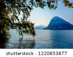 view of lugano lake with his... | Shutterstock . vector #1220853877