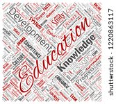 vector conceptual education ... | Shutterstock .eps vector #1220863117