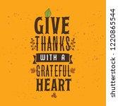 thanksgiving day. logo  text... | Shutterstock .eps vector #1220865544