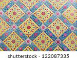 thai pattern wall | Shutterstock . vector #122087335
