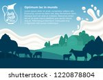vector milk illustration with... | Shutterstock .eps vector #1220878804