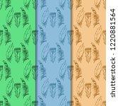 mockingjay feather seamless... | Shutterstock .eps vector #1220881564