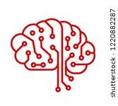 creative technology human brain ... | Shutterstock .eps vector #1220882287