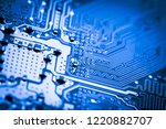abstract close up of mainboard...   Shutterstock . vector #1220882707