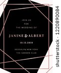 wedding invitation template... | Shutterstock .eps vector #1220890084