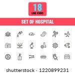 hospital icons. set of line... | Shutterstock .eps vector #1220899231