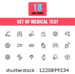 medical test icons. set of line ...   Shutterstock .eps vector #1220899234