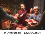 merry christmas and happy... | Shutterstock . vector #1220902504