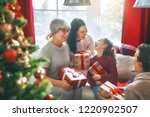 merry christmas and happy...   Shutterstock . vector #1220902507