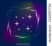 vector neon light icon of the... | Shutterstock .eps vector #1220907724