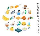 brunch icons set. isometric set ... | Shutterstock . vector #1220908627