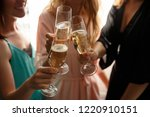 women party or happy birthday... | Shutterstock . vector #1220910151