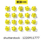 accounting line icons. set of... | Shutterstock .eps vector #1220911777