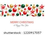 christmas background or border... | Shutterstock .eps vector #1220917057