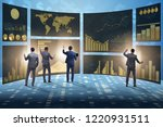 concept of business charts and... | Shutterstock . vector #1220931511