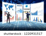concept of business charts and... | Shutterstock . vector #1220931517