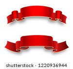 red holiday ribbons for...   Shutterstock .eps vector #1220936944