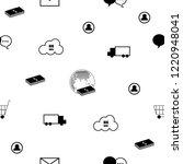 seamless pattern omni channel... | Shutterstock .eps vector #1220948041