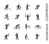 vector illustration of sports...   Shutterstock .eps vector #1220948314