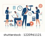 office work. the business team... | Shutterstock .eps vector #1220961121