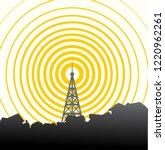 tower transmitter illustration | Shutterstock .eps vector #1220962261