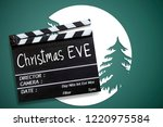 christmas eve  text title on... | Shutterstock . vector #1220975584