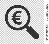 magnify glass with euro sign...