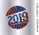 2019 happy new year greeting... | Shutterstock .eps vector #1220976871