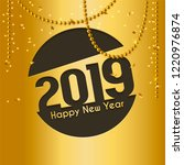 2019 happy new year greeting... | Shutterstock .eps vector #1220976874