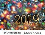 new year  christmas figures... | Shutterstock . vector #1220977381