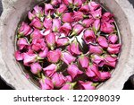 Stock photo roses with water 122098039