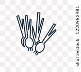 spring onion vector outline... | Shutterstock .eps vector #1220982481