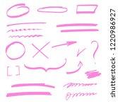 circles  arrows  underline ... | Shutterstock .eps vector #1220986927