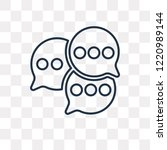 comments vector outline icon... | Shutterstock .eps vector #1220989144