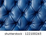 luxury blue leather closeup... | Shutterstock . vector #122100265