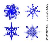 four snowflakes on a white... | Shutterstock .eps vector #1221005227