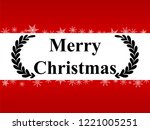 holiday greeting card for... | Shutterstock .eps vector #1221005251
