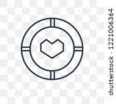 aim vector outline icon... | Shutterstock .eps vector #1221006364