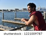 happy young multi ethnic young... | Shutterstock . vector #1221009787