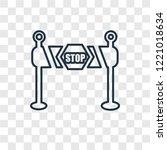 barrier concept vector linear... | Shutterstock .eps vector #1221018634
