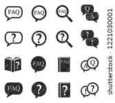 faq icons. black scribble... | Shutterstock .eps vector #1221030001