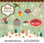 set of christmas and new year... | Shutterstock .eps vector #122104531