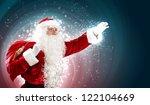 christmas theme with santa... | Shutterstock . vector #122104669