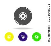 music plate multicolored icons. ...